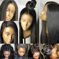 Wholesale Brazilian Straight lace front human hair wig pre plucked lace front wig density lace wig with baby hair inch
