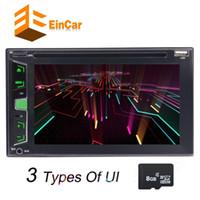 karte rw großhandel-EinCar 6.2 '' Doppel-Din-Auto-DVD-CD-Player Stereo FM AM-Radio GPS USD TFT-Farbdisplay + 8 GB-Karte mit Kartenfernbedienung