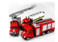 Wholesale red fire truck - Spray Water Gun Toy Truck Firetruck Juguetes Fireman Sam Fire Truck Vehicles Car Music Light Cool Educational Toys for Boys Kids