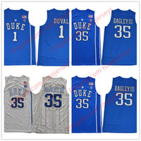 Wholesale Cheap Mens Basketball Jerseys - NCAA Mens Duke Blue Devils #35 Marvin Bagley III #1 Trevon Duval 2017 NEW royal blue white Stitched College Basketball cheap Jerseys S-3XL