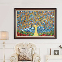 Wholesale pictures abstract art paintings for sale - cm Abstract Tree Diamond Embroidery Full D Diamond Painting Kit Decoración Del Hog Home Decor Wall Art Canvas Pictures
