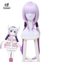 Wholesale maid accessories for sale - Group buy ROLECOS Kobayashi san Chi no Maid Dragon Cosplay Kanna Kamui Cosplay cm inch Gradient Purple Hair Accessories