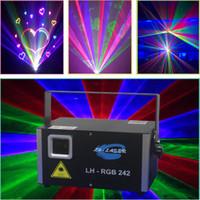 laser projetor animação venda por atacado-ILDA 45K galvo MINI 2W RGB Animação em cores analógica iluminação a laser para iluminação de projetores de natal e feriados