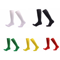 Wholesale men compression stockings - Professional Soccer Solid Socks Long Knee Stocking For Running Athletic Sport Socks Compression Thermal Winter Socks