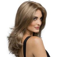 mujeres peluca rizada blanca al por mayor-Venta caliente mujeres atractivas Brwon-gris / Brwon 22
