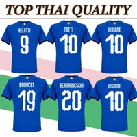 Wholesale fans clothing - Best quality 2018 italy world cup home soccer jersey fans top thai aaa quality football shirts soccer clothing custom name number buffon