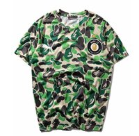 Wholesale women camo shorts - Newest Tide Brand Men's Green Camo Short Sleeved T-Shirts Men Women Crew Neck T-shirt Tops Free Shipping