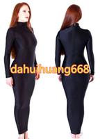 черный мешок спандекса оптовых-Черный лайкра спандекс женщины платье тела сумки костюмы спальный мешок наряд сексуальные женщины обернуть платье костюмы Хэллоуин косплей костюмы DH118