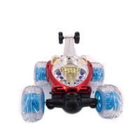 Wholesale Remote Control Stunt Car - 360 Degree Rotation remote control car Rolling Rotating Wheel Vehicle stunt electric with light and music Toy