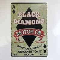 Wholesale rustic home decor online - Garage Gilmore Shell Ford VW Champion Motor Oil Cat Dog Retro rustic tin metal sign Wall Decor Vintage Tin Poster Cafe Shop Bar home decor