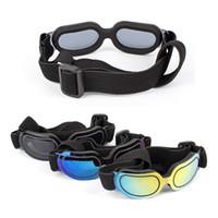 dog sunglasses оптовых-Зоотовары ослепить цвет солнцезащитные очки собака мода очки противотуманные зонт очки весело животных уход декор высокое качество 15rs Ww