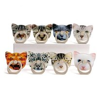 Wholesale Universal Degree Cat Pattern Finger Ring Holder Phone Ring Stand For iPhone X Samsung Huawei Phones