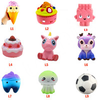 Wholesale wholesale dinosaur toys - Squishy Toy Strawberry Cake ice cream stars beer tooth dinosaur squishies Slow Rising Soft Squeeze Cute Strap gift Stress children toys