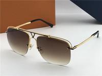 gerahmtes brett großhandel-New Fashion Designer Sonnenbrillen BOARDING Metall quadratischen Rahmen Top-Qualität beliebten Stil Bestseller Schutz Brillen UV 400 Objektiv 2335