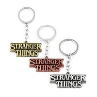 anahtarlık hediyelik eşyaları ücretsiz gönderim toptan satış-Bakır / Gümüş / Bronz Stranger Şeyler Mektup Anahtarlıklar Ücretsiz Drop Shipping Hatıra Erkekler Kadınlar Anahtarlık Anahtarlık Hediye