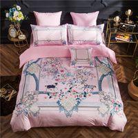 noel yorgan setleri toptan satış-Lüks tasarımcı baskı yatak Yorgan set SignageH taşıma Polar yatak ev tekstili 5 parça set Noel Aile Hediye Yatak Seti