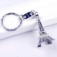 aimer la tour eiffel achat en gros de-10 PC Romance Paires Tour Eiffel Porte-clés Porte-clés En Métal 5 cm de hauteur Mini France Promotion Cadeau Amour Porte-clés