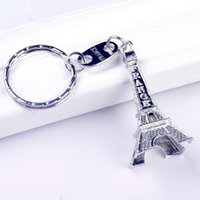 Wholesale mini eiffel towers for sale - Group buy 10 PC Romance Pairs Eiffel Tower Keychain Car Key Rings Metal cm height Mini France Promotion Gift Love Keychain