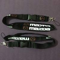 neue halskette großhandel-Brand New Schwarz Rot Mazda Schlüsselband Handy Schlüsselanhänger Halsband Schnalle Schnellverschluss Abnehmbar - RX8 Miata RX7 MX-5 Mazda3 CX