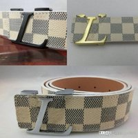 Wholesale types belts men - Famous Brand good Skin Waist For Men Casual L Classic smooth buckle Cow Skin Waist Business type leisure leather Are men and women's br