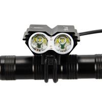 scheinwerfer führte lumen großhandel-SolarStorm X2 Fahrrad Licht 7000 Lumen 2x XM-L T6 Led Radfahren Scheinwerfer Nachtfahrrad Kopf Licht Fahrrad Lampe Taschenlampe + Ladegerät + Batterie