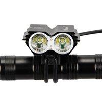 farol de luz led bicicleta venda por atacado-SolarStorm X2 Luz Da Bicicleta 7000 Lumens 2x XM-L T6 Levou Ciclismo Farol Da Noite Da Bicicleta Head Light Bicicleta Lamp Torch + carregador + bateria