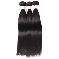 Wholesale 3pcs bundle hair straight resale online - Ishow New Arrival A Brazilian Straight Hair Bundles Cheap Brazilian Hair Weave Peruvian Hair Extensions