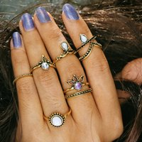 Wholesale v ring silver for sale - Wholesales set Gemstone V Shaped Knuckle Ring Midi Finger Tip Rings Women Engagemen Rings Luxury Jewelry Mens Wedding Rings Bague