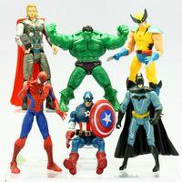 demir adam filmi figürleri toptan satış-Avengers Marvel Kahraman Kaptan Iron Man Hulk 7