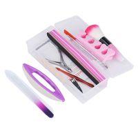 набор для декорирования ногтей оптовых-1 set Nail Art Tips Liquid Buffer Glitter Deco Full Kit Set Professional Nail Decoration DIY Manicure Tool Sanding File Tools