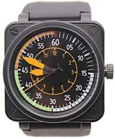 relojes de acero naranja para hombre al por mayor-2018 Venta al por mayor BR-01 AIRSPEED NEW BELL AVIATION VUELO MENS EDICIÓN LIMITADA Relojes GOMA NEGRO ACERO INOXIDABLE NARANJA AZUL AZUL