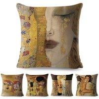 ingrosso vernice viola-Copripiumino decorativo per la casa Cuscino decorativo per la casa Cuscino decorativo della collezione Gustav Klimt Gallery