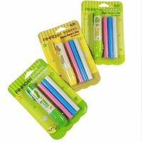 Wholesale lipstick erasers online - 1set New Green Bean s Day press style eraser pen set combination kawaii pen design erasers for erasable pen pencils