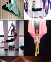 Wholesale yoga swing online - Smartlife Latest Anti Gravity Yoga Stretch Air M Wide meters Length Without Stitching Hammock Hammock YOGA SWING Bed