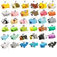 Wholesale saver charger online - New Cable Bite Charger Cable Protector Savers Cover for iPhone Lightning Cute Animal Design Charging Cord Protective With retail box
