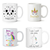 Wholesale birthday wishes gifts - Ceramic Unicornio Milk Cup I Wish Was A Unicorn Coffee Mugs Heat Resisting Tumbler Birthday Gifts Many Styles 15yy CB