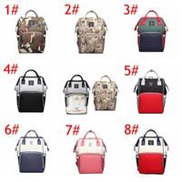 ko großhandel-8 Farben Mama camouflage patchwork Rucksäcke Erwachsene Windeln Windel Frauen Große Kapazität Outdoor Reisetaschen Rucksack