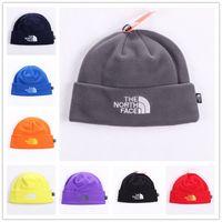 Wholesale Wholesale Fleece Snood - Unisex Brand Hat The North Polar Fleece Winter Beanie Skull Caps for Men Women Outdoor Skiing Snood Hats Warm Hip Hop Cap Ear Muff Free Ship
