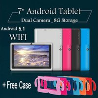 "Wholesale tablet red 1gb - 7"" INCH KIDS ANDROID 5.1 TABLET PC 8GB WIFI Allwinner A33 KIDS CHILD CHILDREN TABLET PC + Free Case"