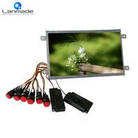 Wholesale Monitor Full Hd Led - Hot sale 10 inch 6 pcs buttons full hd open frame tft lcd led monitor advertising display