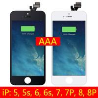 dokunmatik panelli cep telefonu toptan satış-IPhone 5 iPhone 5 s Artı Çerçeve ile LCD Ekran Değiştirme Dokunmatik Dokunmatik Ekran Digitizer Tam Meclisi Cep Telefonu Tamir