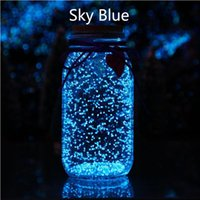 Wholesale paintings bottles resale online - 10g Sky Blue Luminous DIY Bright Glow in the Dark Paint Wishing Bottle Fluorescent Particles Flare Power Night
