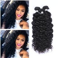 Wholesale malaysian human hair for weaving resale online - Malaysian Virgin Human Hair Weaves Deep Wavy Curly Hair Bundles Hair Extension Natural Color Wave Weft For Black Women