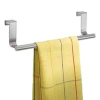 toallas funcionales al por mayor-2018 multifuncional puerta toalla de cocina sobre el soporte cajón gancho de almacenamiento baño bufanda perchero
