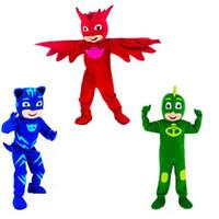 Wholesale Connor Costume - 2018 High quality hot Mascot Costumes Parade PJ Masks Birthdays High Quality Connor Greg Amaya Mascot