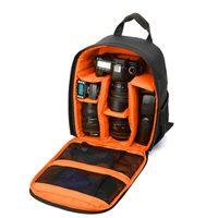 цифровые камеры dslr оптовых-Обновление водонепроницаемый многофункциональный цифровой DSLR камеры видео сумка небольшой SLR камеры рюкзак сумка мягкий для фотограф тренажерный зал сумки