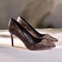 4092a4857 2019 hot High end sapatos de salto alto com tecidos de moda clássicos