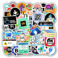 langages informatiques achat en gros de-50 PCS Étanche Logiciel De Langue Logiciel Stickers Pour Ordinateur Portable Autocollants Jouets pour Enfants DIY Ordinateur Portable Téléphone Haut-Parleur Cadeaux pour Geek Ingénieurs En Informatique