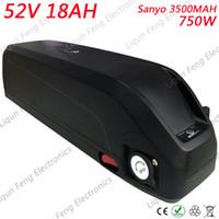 Wholesale 18ah battery online - EU US No Tax W V Lithium Battery V AH Down Tube Battery V AH AH Ebike Battery use SANYO MAH cell A BMS
