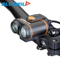 ingrosso bicicletta di ricarica della batteria-Carica impermeabile batteria 12000mAh USB originale BLUEWILD B50 biciclette luci anteriori 2x L2 lampada della bici bici di LED
